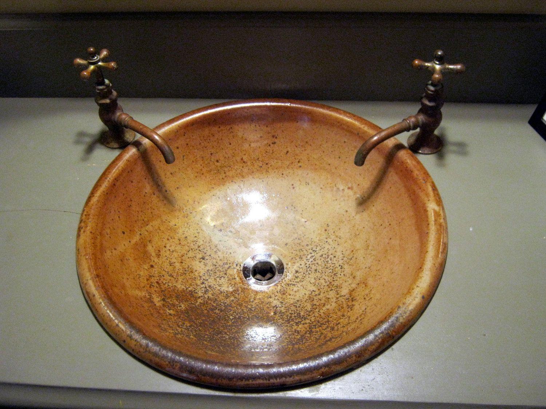 Lovely Handmade Pottery Sink. $200.00, Via Etsy.