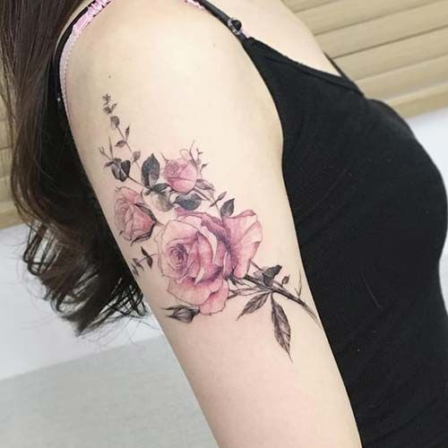 Rosen frau unterarm tattoo Rosen Tattoo