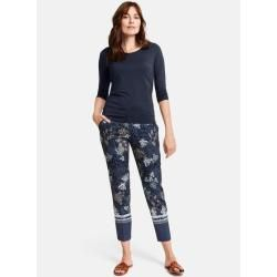 Photo of Gerry Weber 7/8 trousers with flower print city style blue women Gerry Weber
