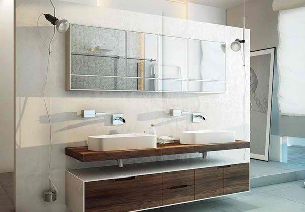 Stilvolle moderne badezimmer von moma design haus for Badezimmer ideen doppelwaschbecken