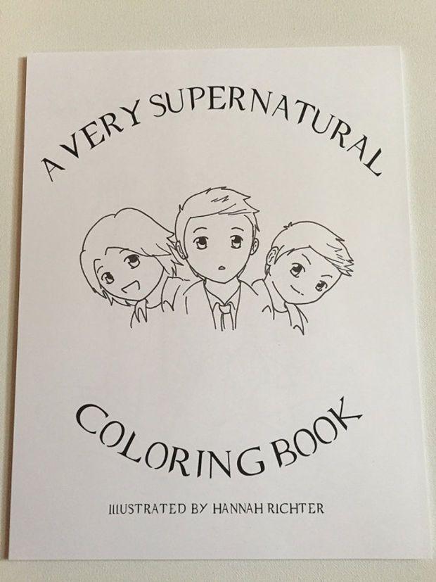 Printable Supernatural Hand Illustrated Coloring Pages Digital Download Hand Illustration Coloring Pages Supernatural Crafts