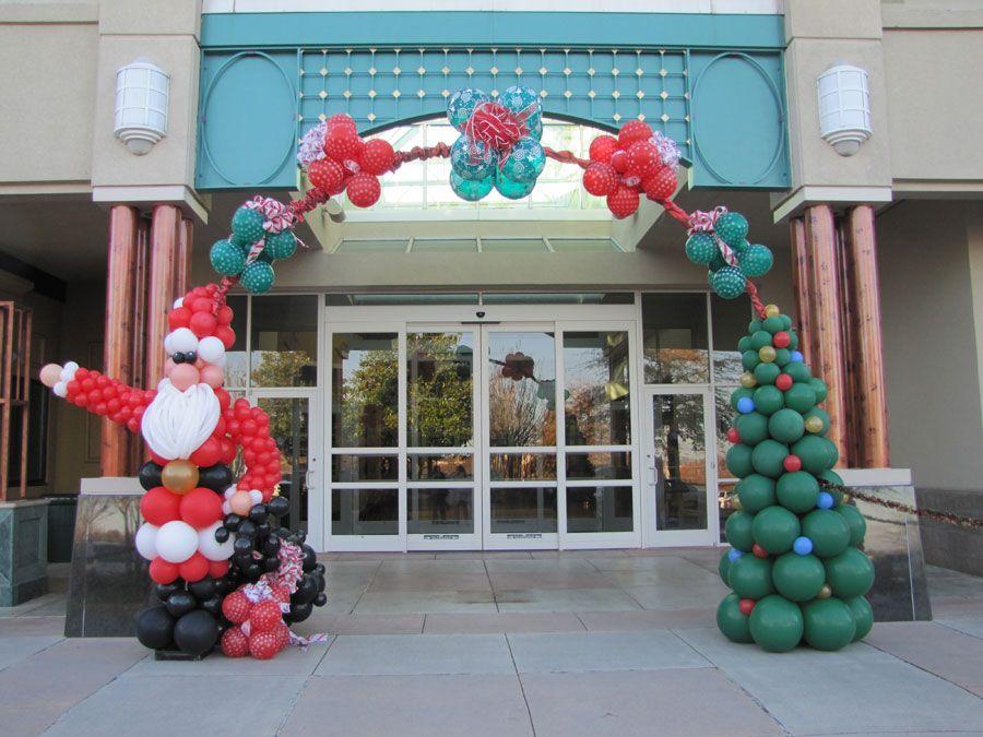 Arco navide o decoraciones con globos para navidad - Decoracion de navidad con globos ...