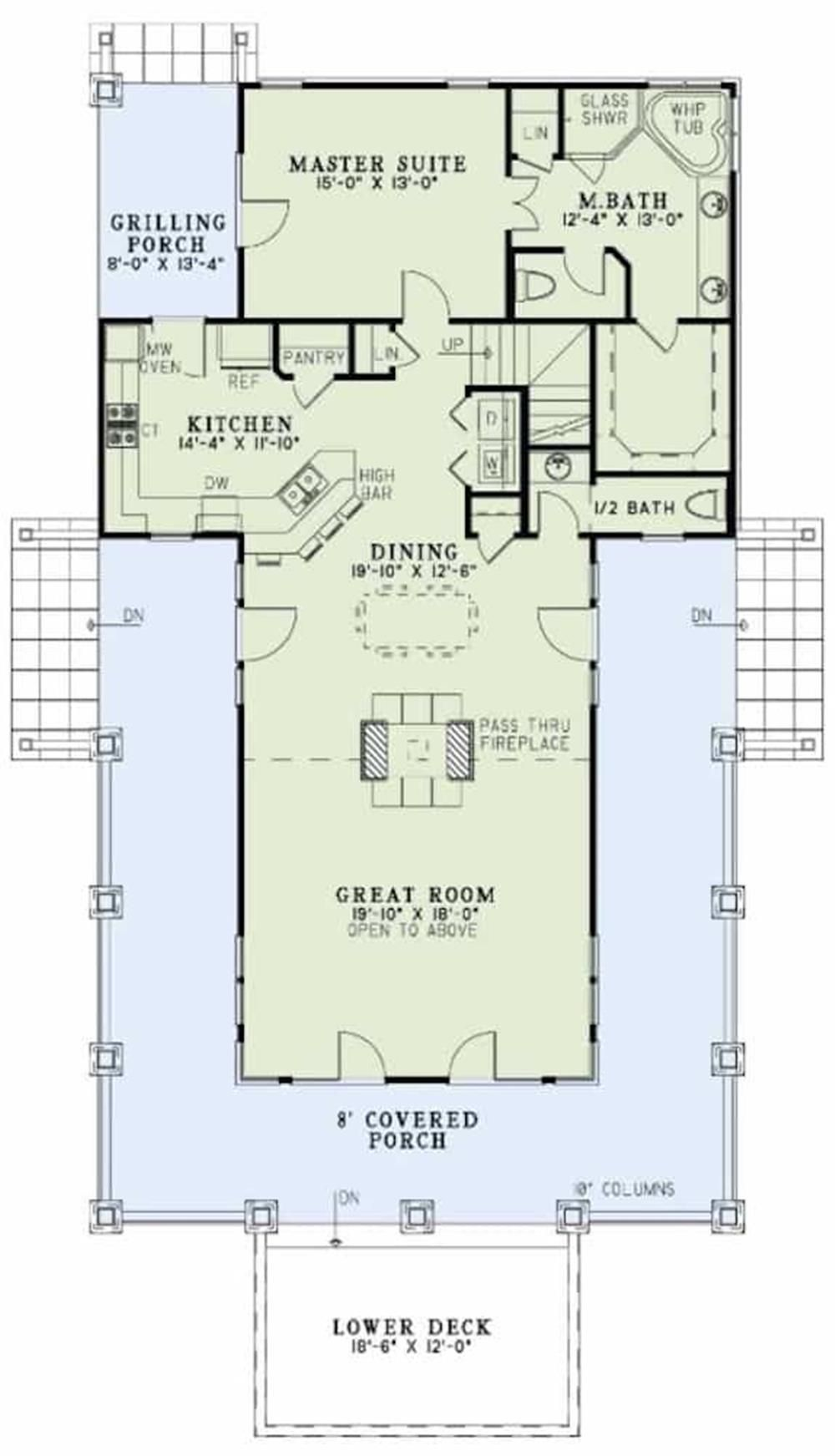 153 1910 153 1910 Floor Plan Main Level How To Plan House Plans Small House Plans
