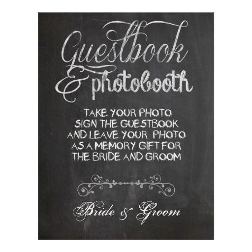Chalkboard Wedding Photo Booth Poster