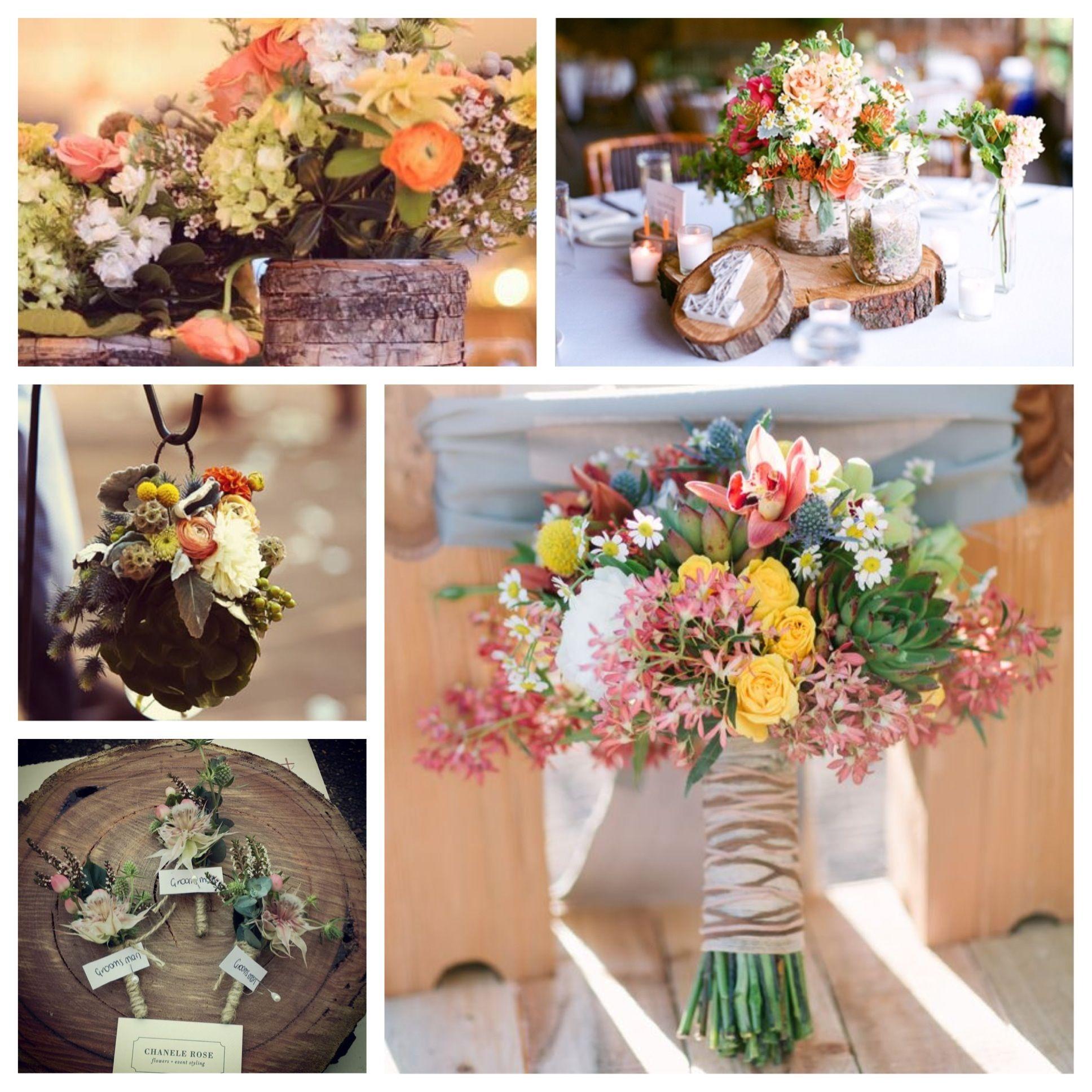 rustic wildflower wedding decor | kristen blome | wedding