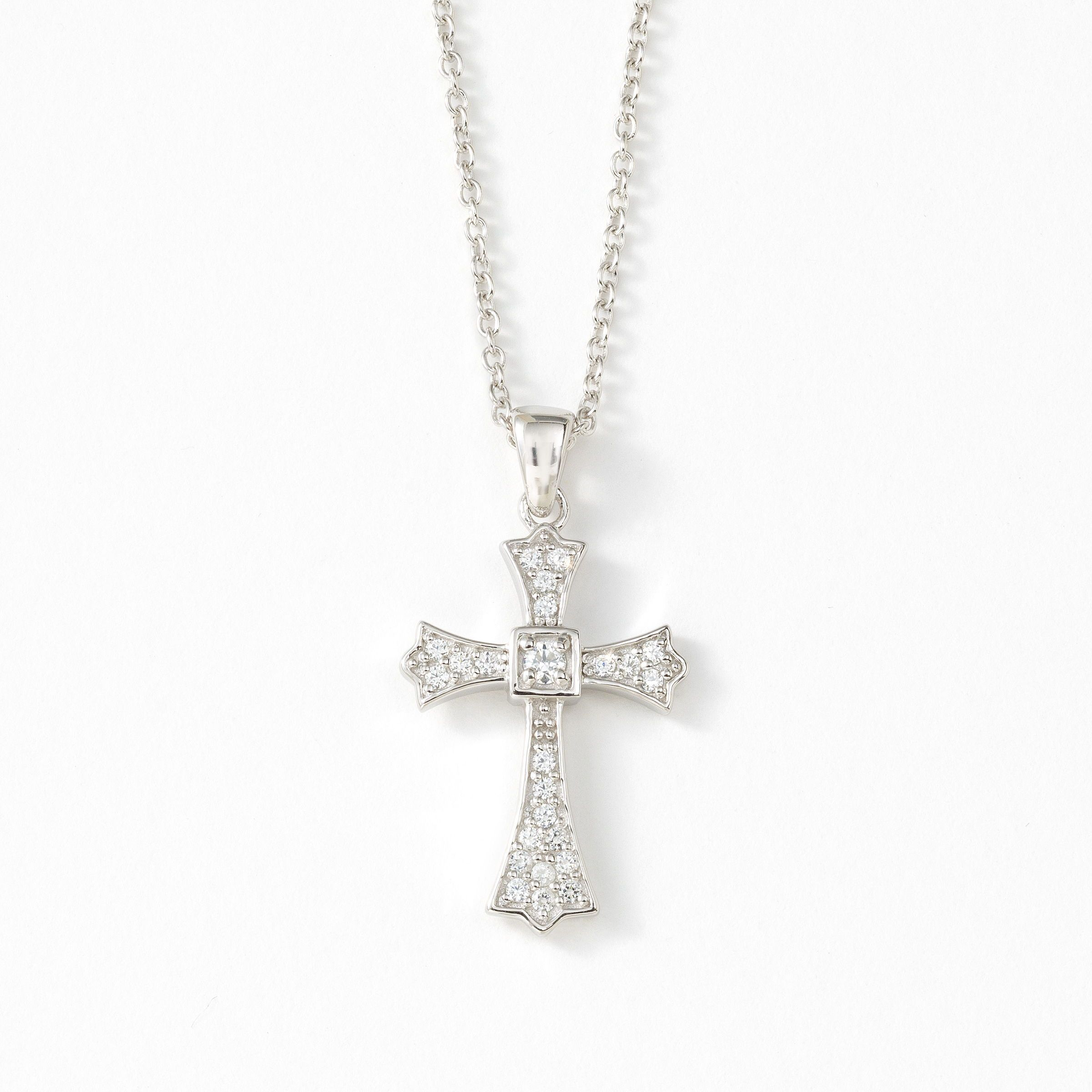 Divine Necklace $89 #cross #giftsforher #sparkle #necklace ...