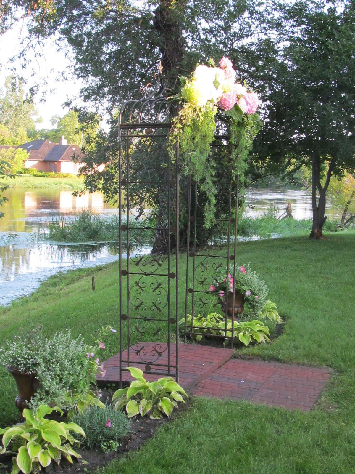 Arbor for wedding, backyard wedding
