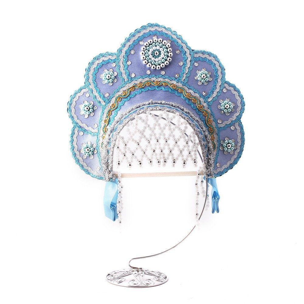KOKOSHNIK Russian Traditional Folk Slavic Costume Crown Headpiece Headdress Princess Tiara Headband Dance Headwear Souvenir Festive clothes