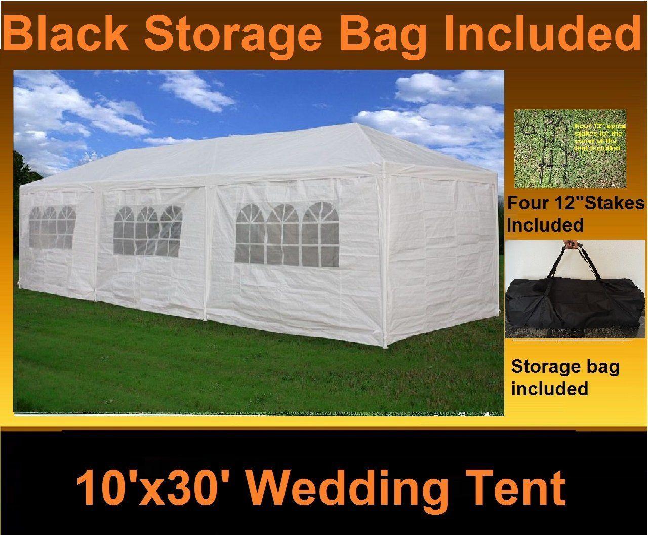 10' x 30' Party Wedding Tent Gazebo Pavilion Catering
