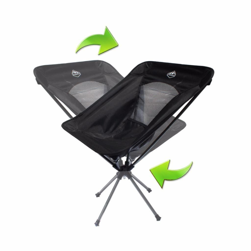 Fishing Chair No Arms Rope Target Trekk Outdoor 360 Rotating Ultralight Compact Swivel Folding Camp Ice Hunting