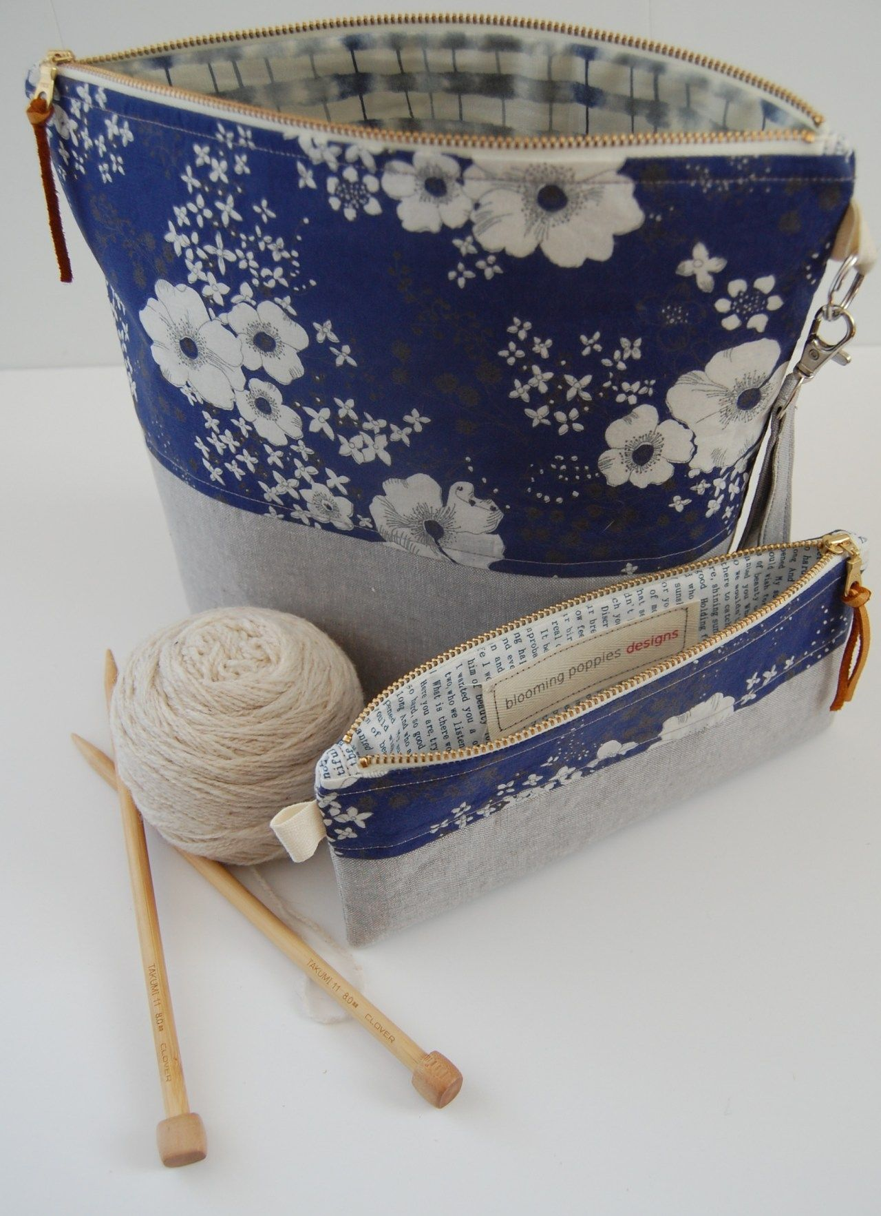 Knitting Bag Sewing Pattern Projects Yarn Bag Sewing ...