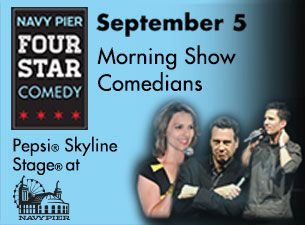 You're gonna LOL all night long! Get your tickets to Navy Pier Four Star Comedy for September 5, 2014!   http://www.ticketmaster.com/event/07004CFCCFCD294C