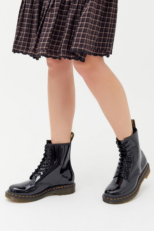 Dr Martens 1460 Patent Lamper 8 Eye Boot Urban Outfitters In 2020 Boots Martens Combat Boots