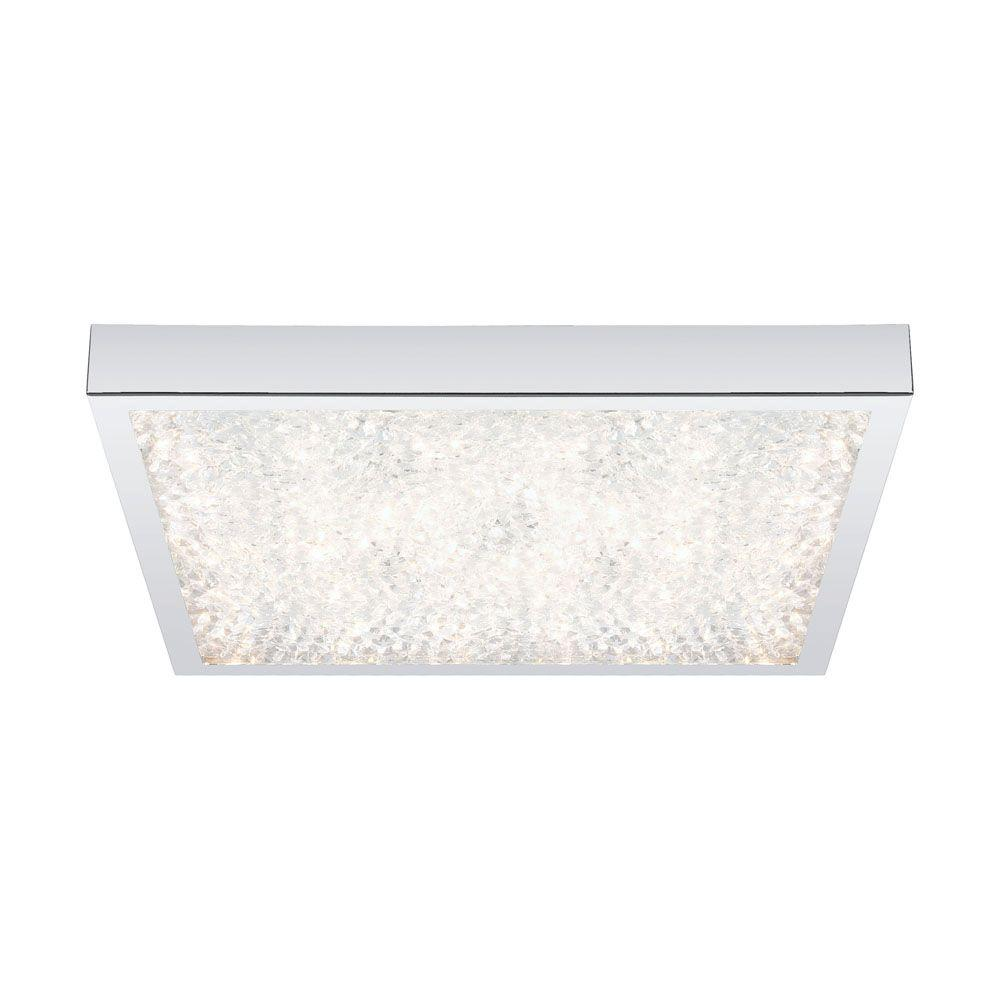 Eglo Cardito 1 Light Chrome And Crystal Flush Mount 92781a Led Ceiling Lights Led Ceiling Ceiling Lights