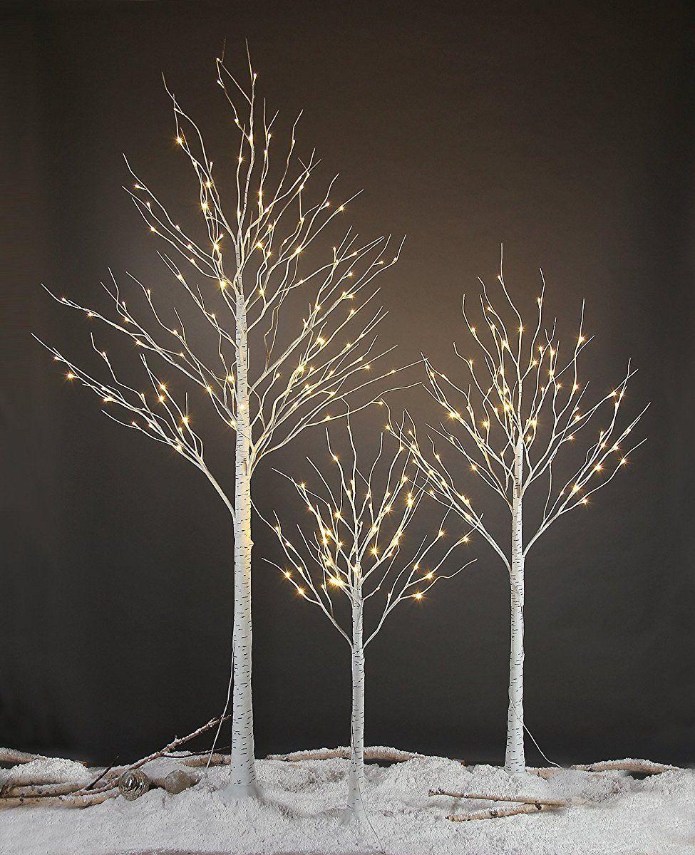 LED Branches Tree Branch Birch Twig Tree Snow-covered Deco türdeko Fensterdeko
