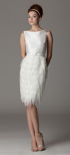 Reception Dress Possibility   Style 290. Bateau Wedding Dress. Made In USA.  Ariadress