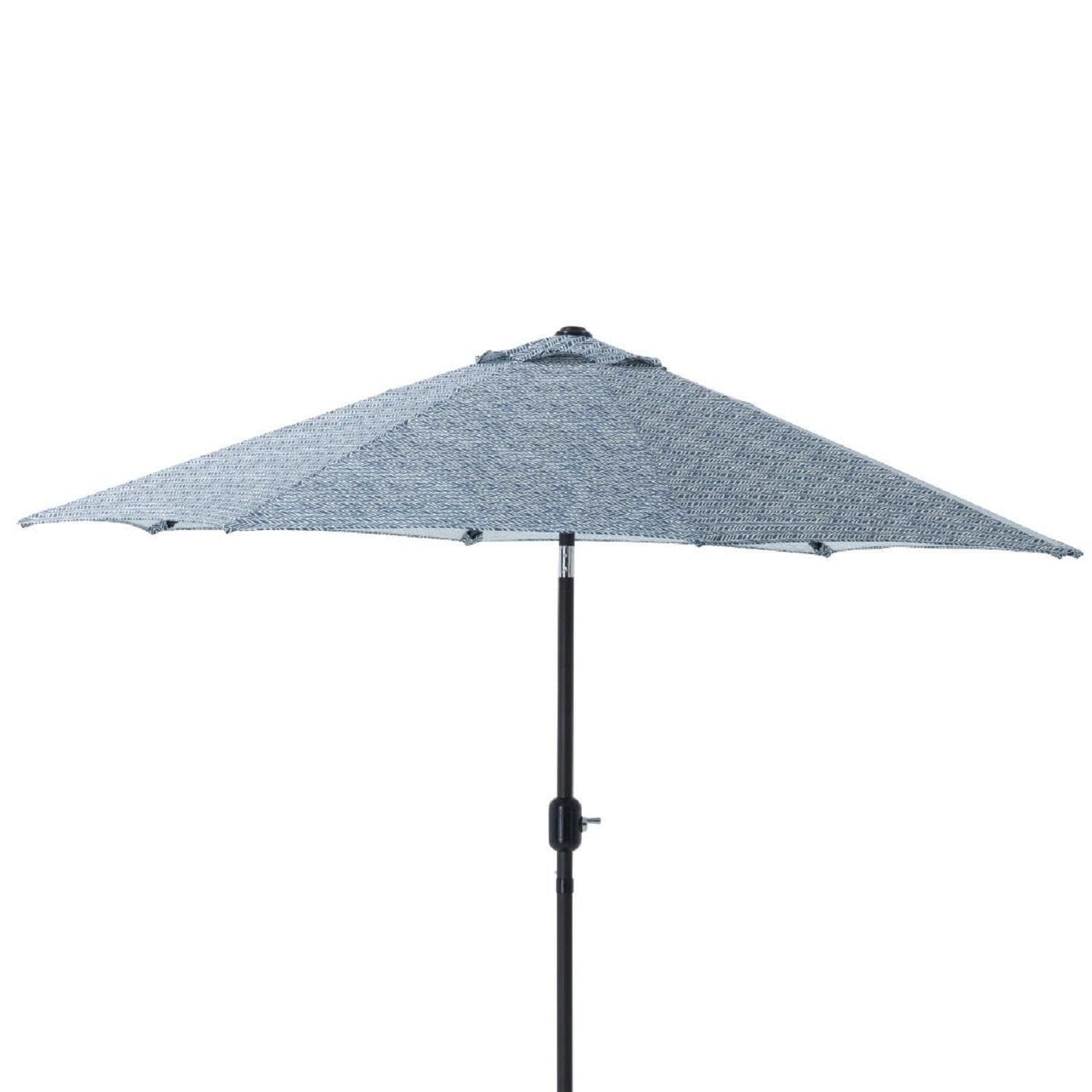 9 Blue Relaxing Day Blue Decorative Market Umbrella with Hand