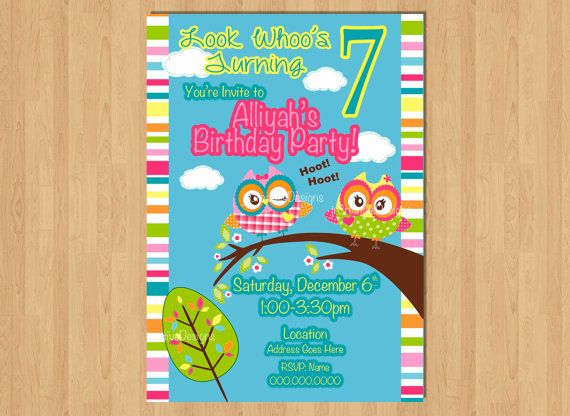 owl invitation girl owl invite owl birthday party look whoo s