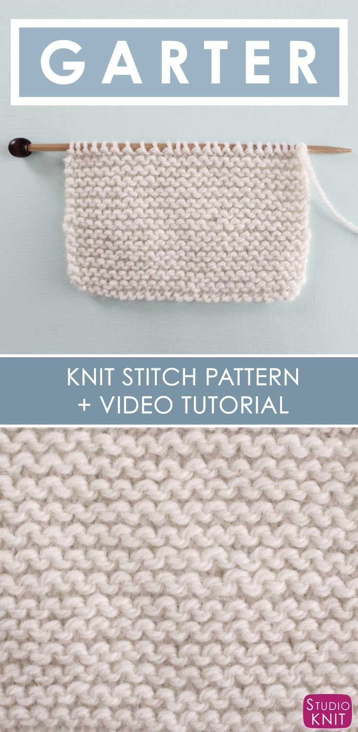 How to Knit the GARTER Stitch Pattern | Stitch, Patterns and Embroidery