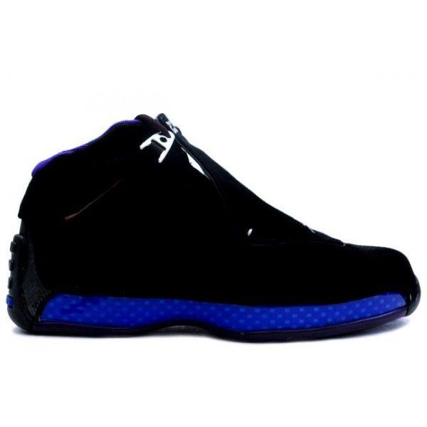 Discount Authentic 305869-041 Mens Nike Air Jordan 18 Retro Original (OG) Black/Royal Blue