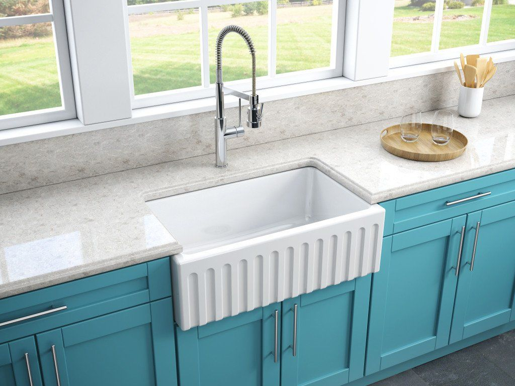 Strong And Elegant Italian Craftsmanship Reversible Farmhouse Sink