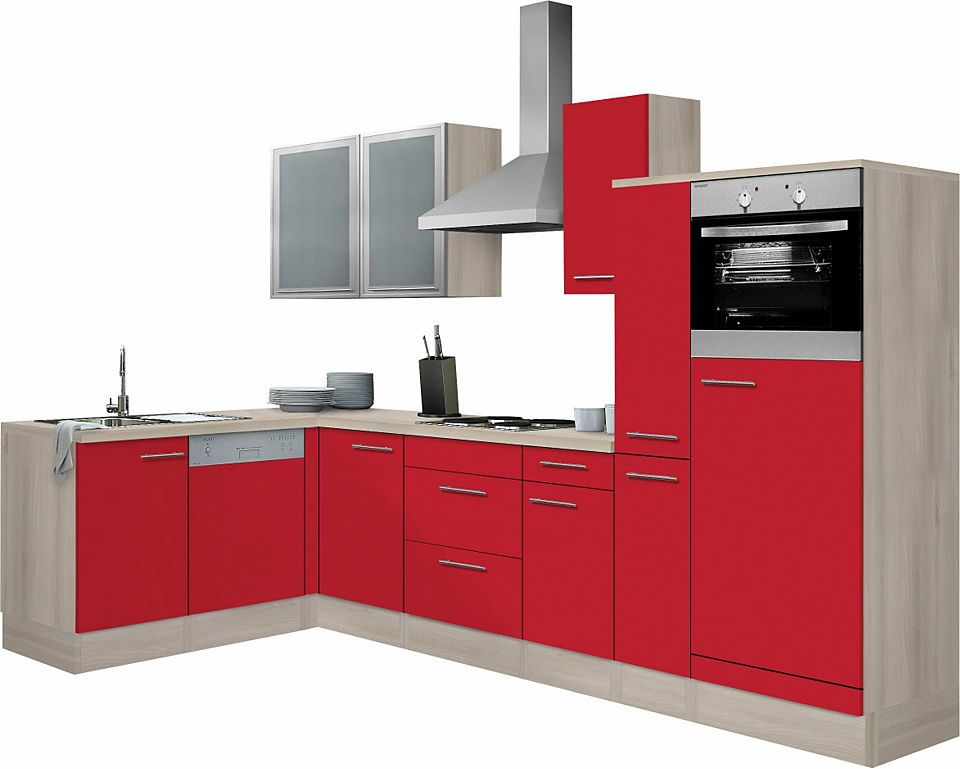 Optifit Winkelküche »Kalmar« ohne E-Geräte, Breite 300x175 cm - küchenblock ohne e geräte