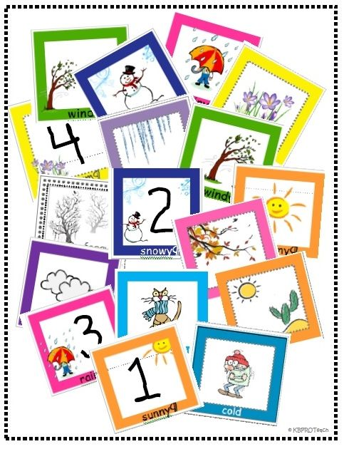 Calendar  Graphing Weather Cards w/ Student Graph Templates (KCC1