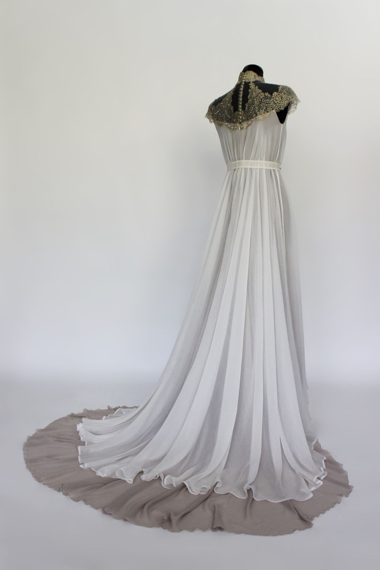 lindafriesen: Art Nouveau inspired wedding dress, made of 3 layers ...