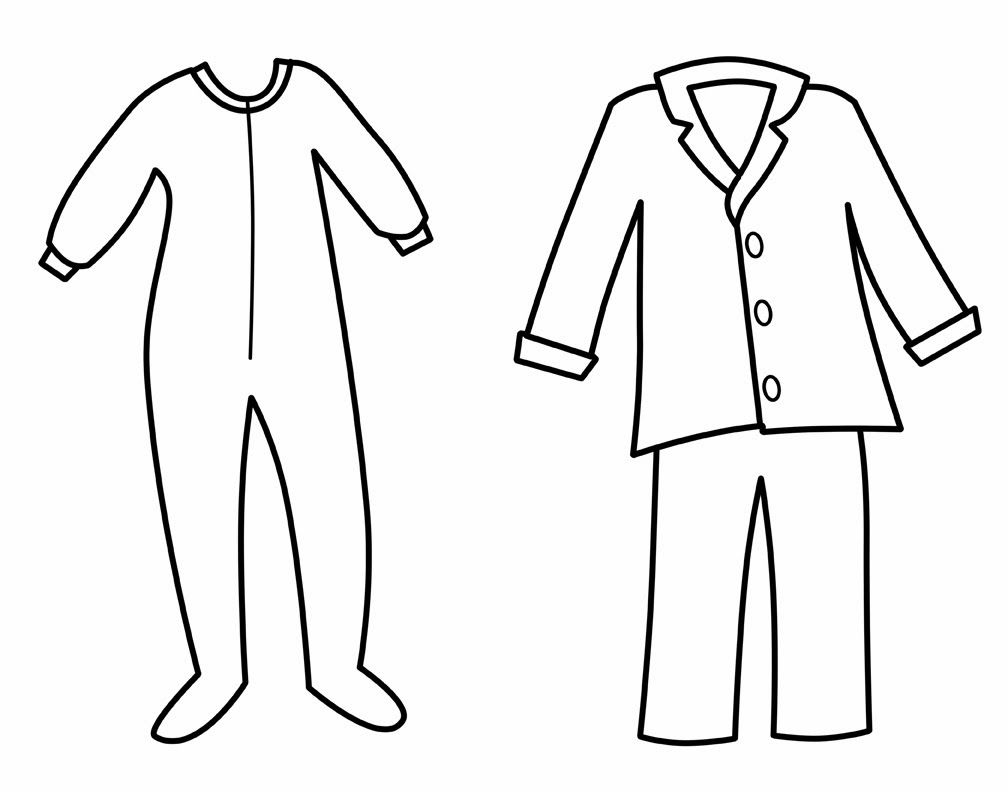 Pajamas Colouring Pages Page 2