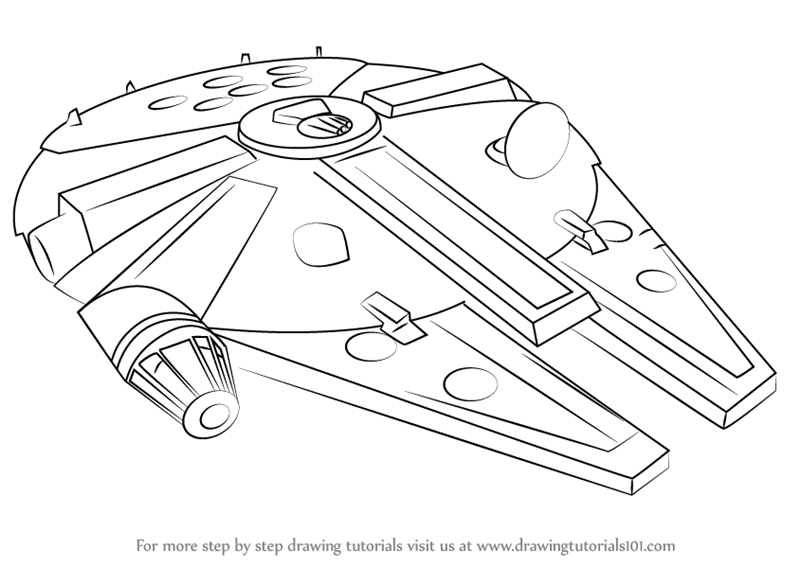Learn How To Draw Millennium Falcon From Star Wars Star Wars Star Wars Drawings Star Wars Art Drawings Sketch Star Wars Art Drawings
