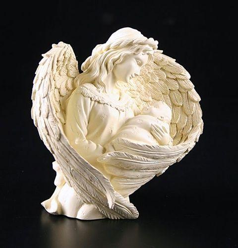 A309140 white angel figurine statuette mystical angel bebe fee
