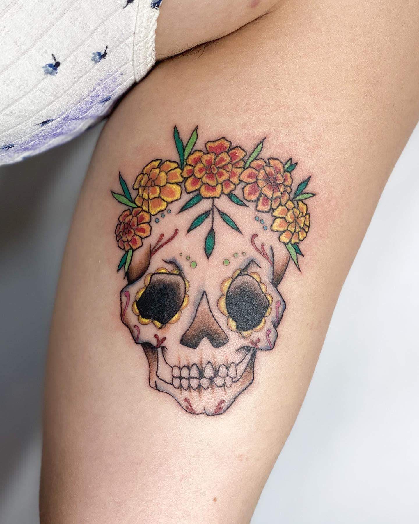 Top 65 Best Marigold Tattoo Ideas [2020 Inspiration