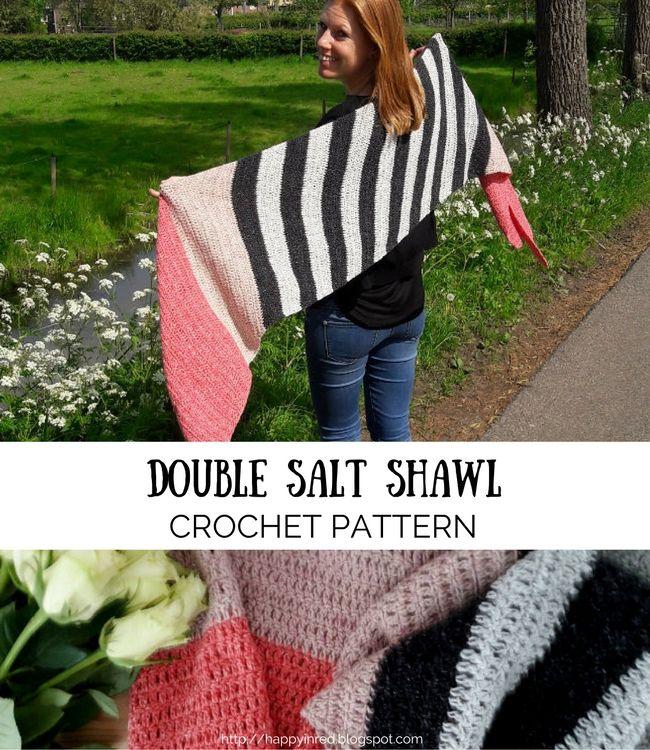 Free crochet pattern: the double salt shawl   Chal