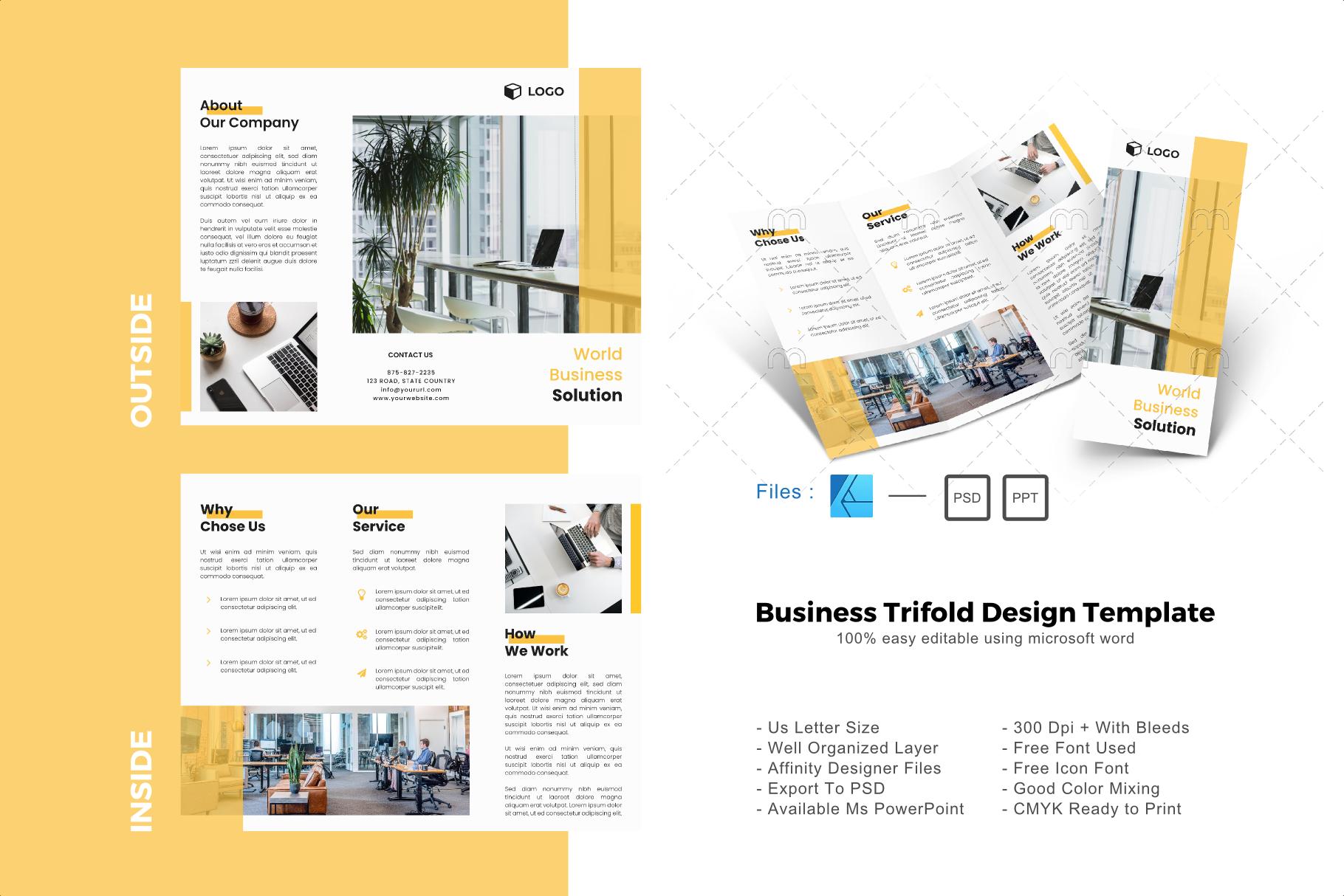 Modern Trifold Brochure Design Template Graphic By Rivatxfz Creative Fabrica