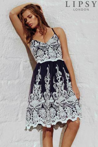 Kúpte si Vyšívané spoločenské šaty Lipsy na ramienkach online ešte dnes v  Next  Slovensko 7d1cdc7d70