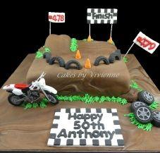 Swell Motocross Birthday Cake 50Th Birthday Cake Motocross Cake Dirt Birthday Cards Printable Trancafe Filternl
