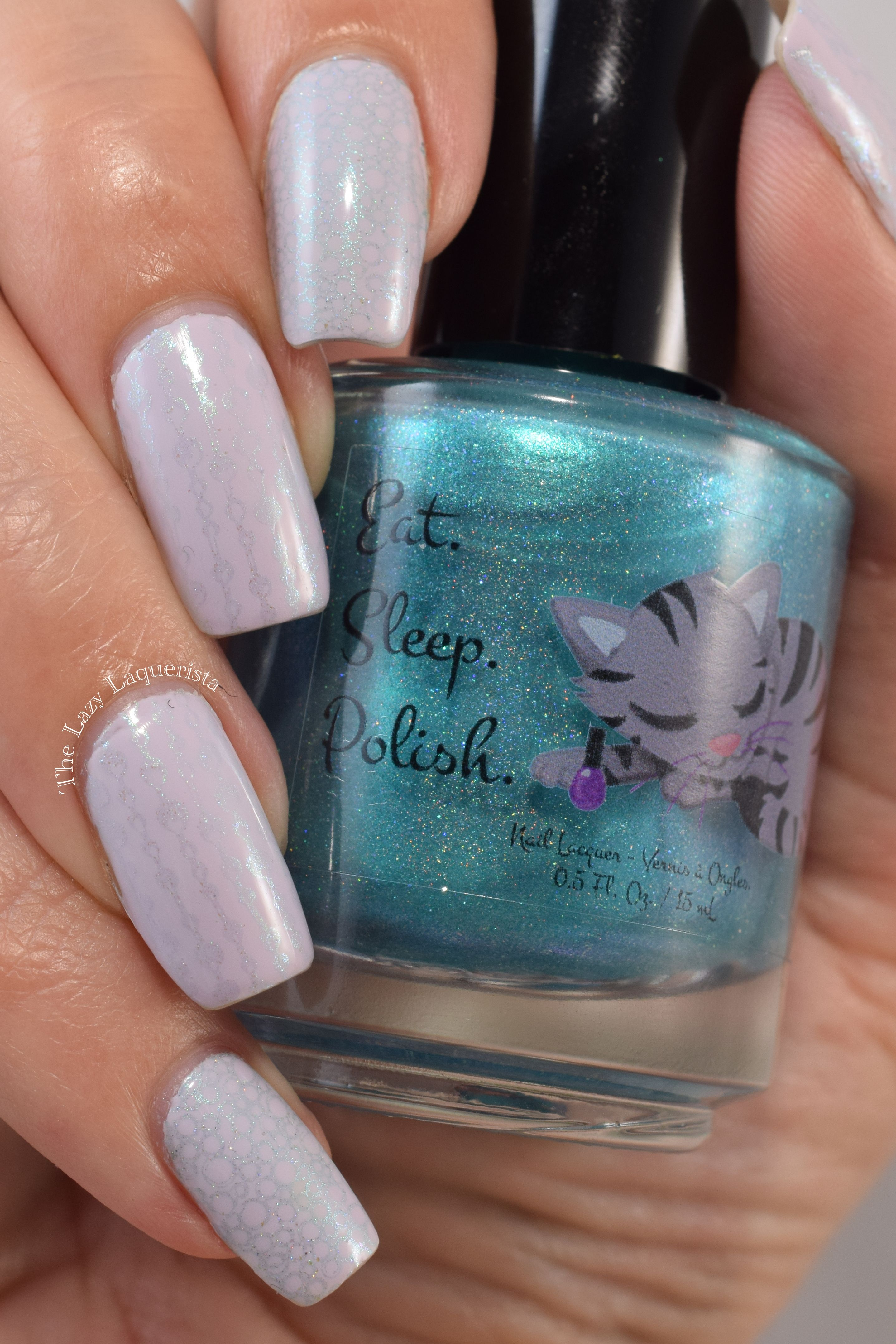 Iridescent pastel stamped nail art. Trust Fund Beauty Put A Ring On ...