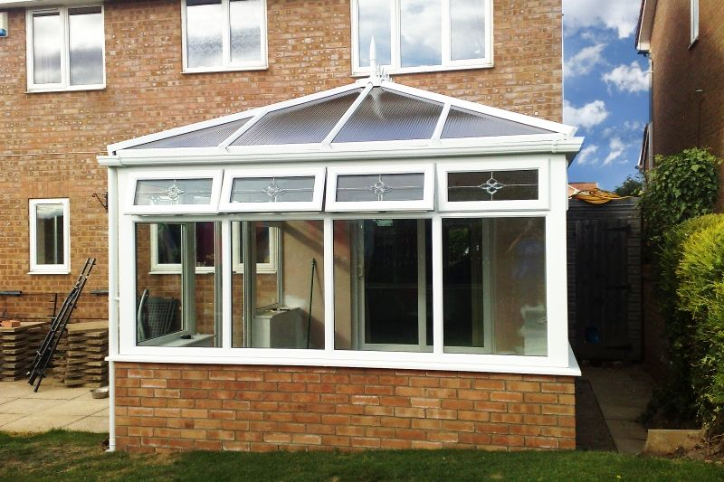 Beautiful Conservatory With Poly Carb Roof With Beveled Lights In The Top Opening Windows Conservatories Ca Build Your Dream Home Renovations Exterior Design