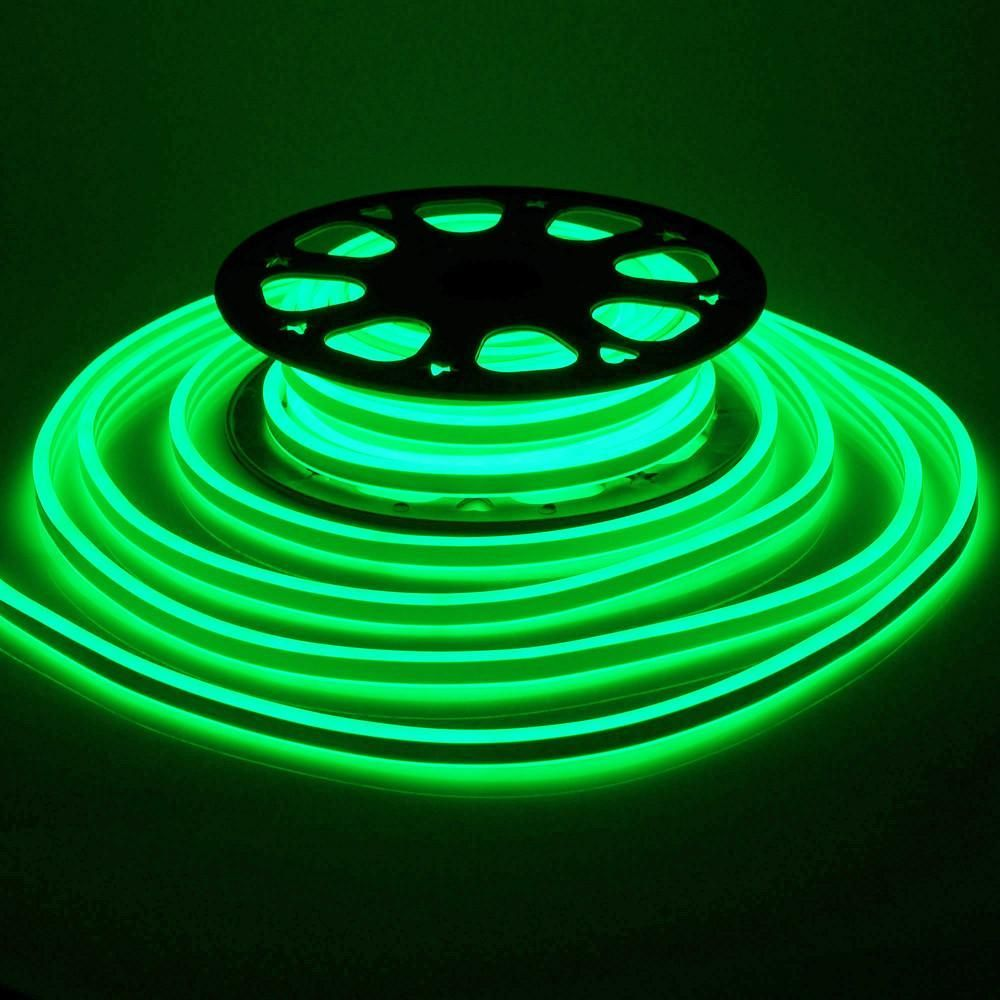 Green 150/' LED Flex Neon Rope Light Valentine Party Commercial Sign Decor 110V