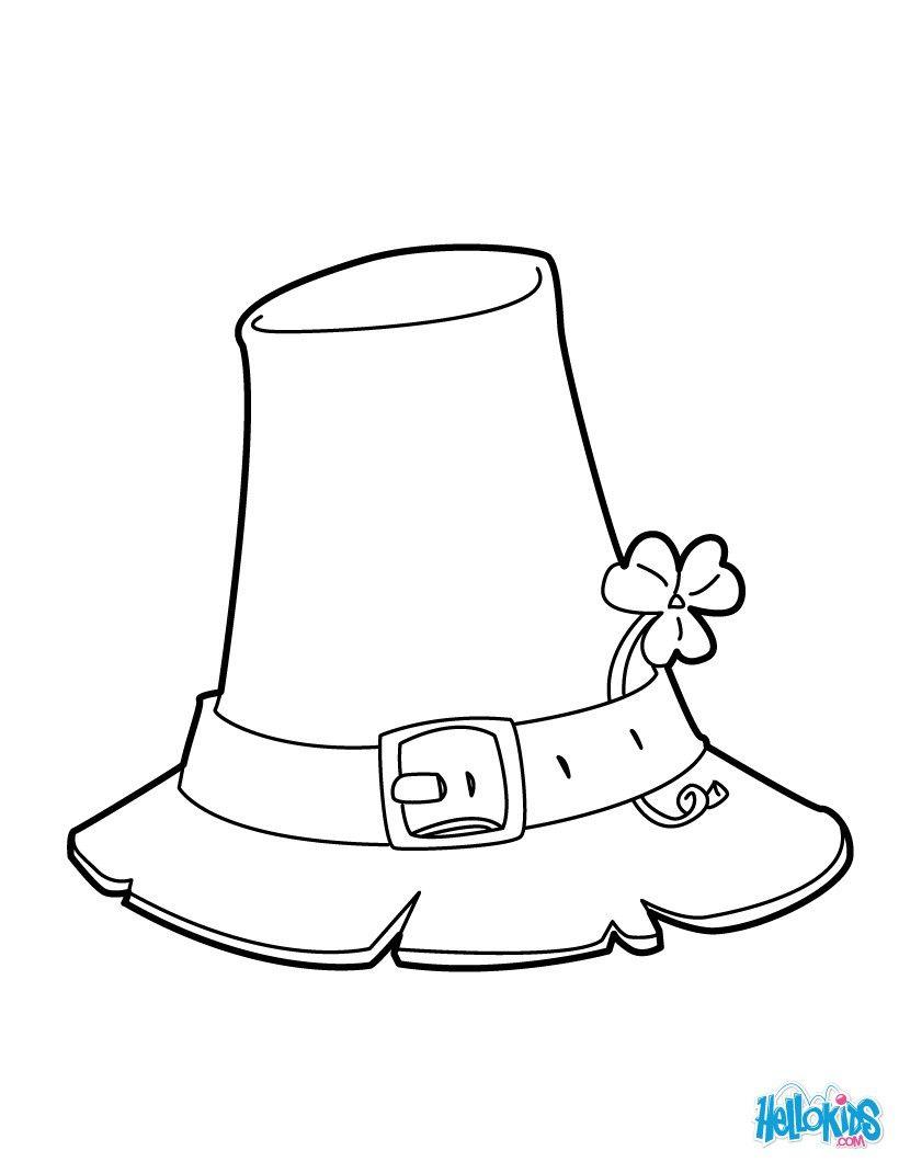 Printable Sombrero Coloring Page | Dibujo para colorear halloween ...