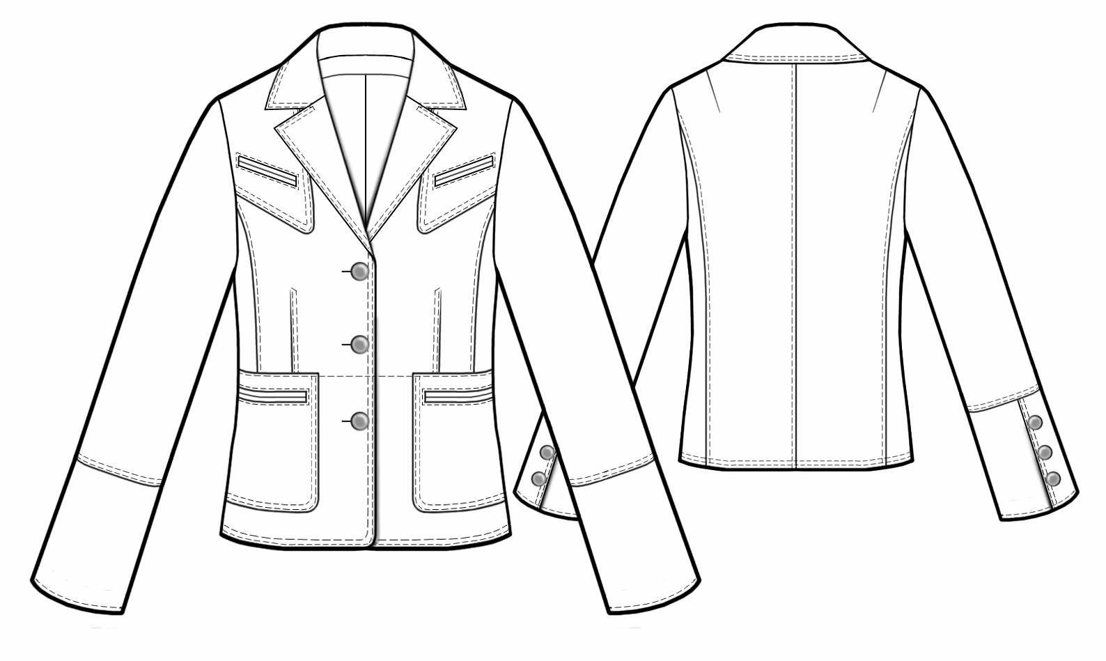 Leather Jacket - Sewing Pattern #5475. Made-to-measure sewing ...