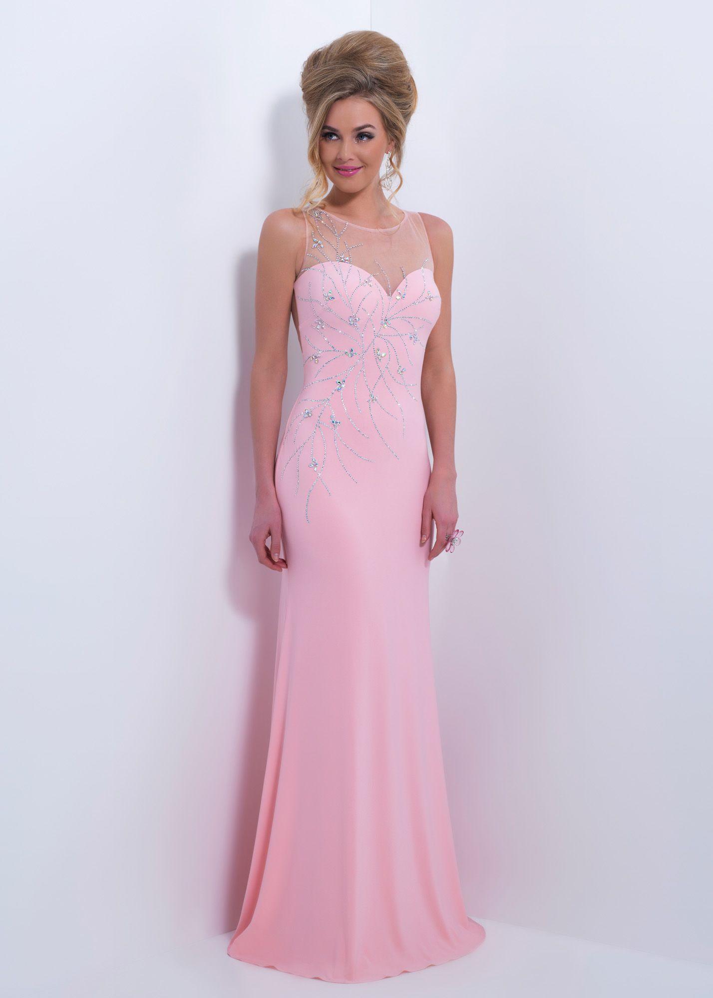 Black by Blush C163 - Blush Slim Fit Sheer Back Prom Dresses Online ...