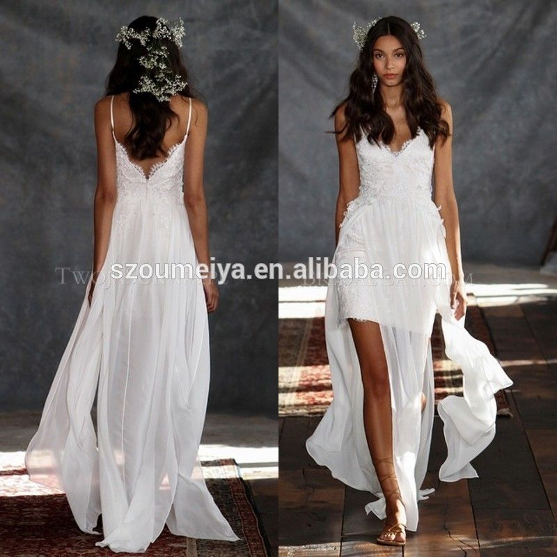 Cheap Dress Anime Buy Quality Multiply Directly From China Degree Suppliers Flowy Chiffon Lace Appliques High Low Casual Beach Wedding Dresses