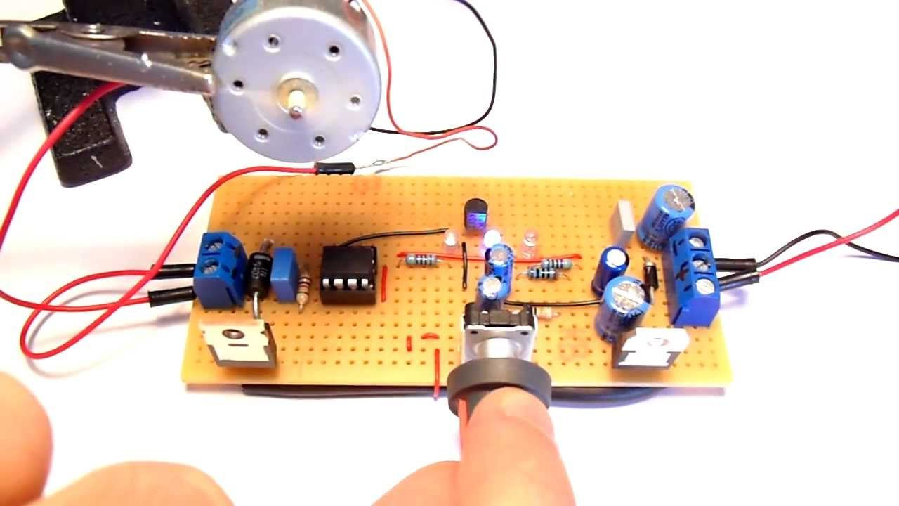 Dc Motor Speed Controller Elektrik Pinterest Electrical Mini Projects Circuit
