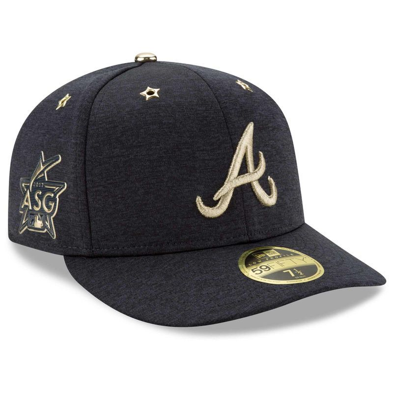 the latest bc001 d2c5f Atlanta Braves New Era 2017 MLB All-Star Game Side Patch Low Profile 59FIFTY  Fitted Hat - Heathered Navy