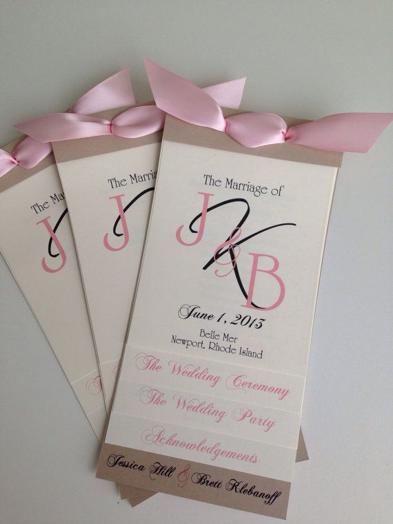 Elegant Wedding Programs Design | Arts - Arts