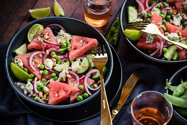 Watermelon and blue cheese salad – Recipes – Bite