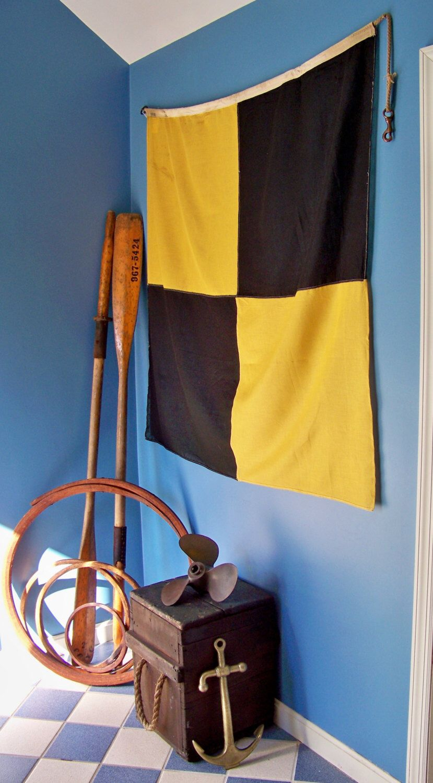 Vintage 52 Linen Nautical Signal Flag L Etsy Nautical Signal Flags Signal Flags Flag Display