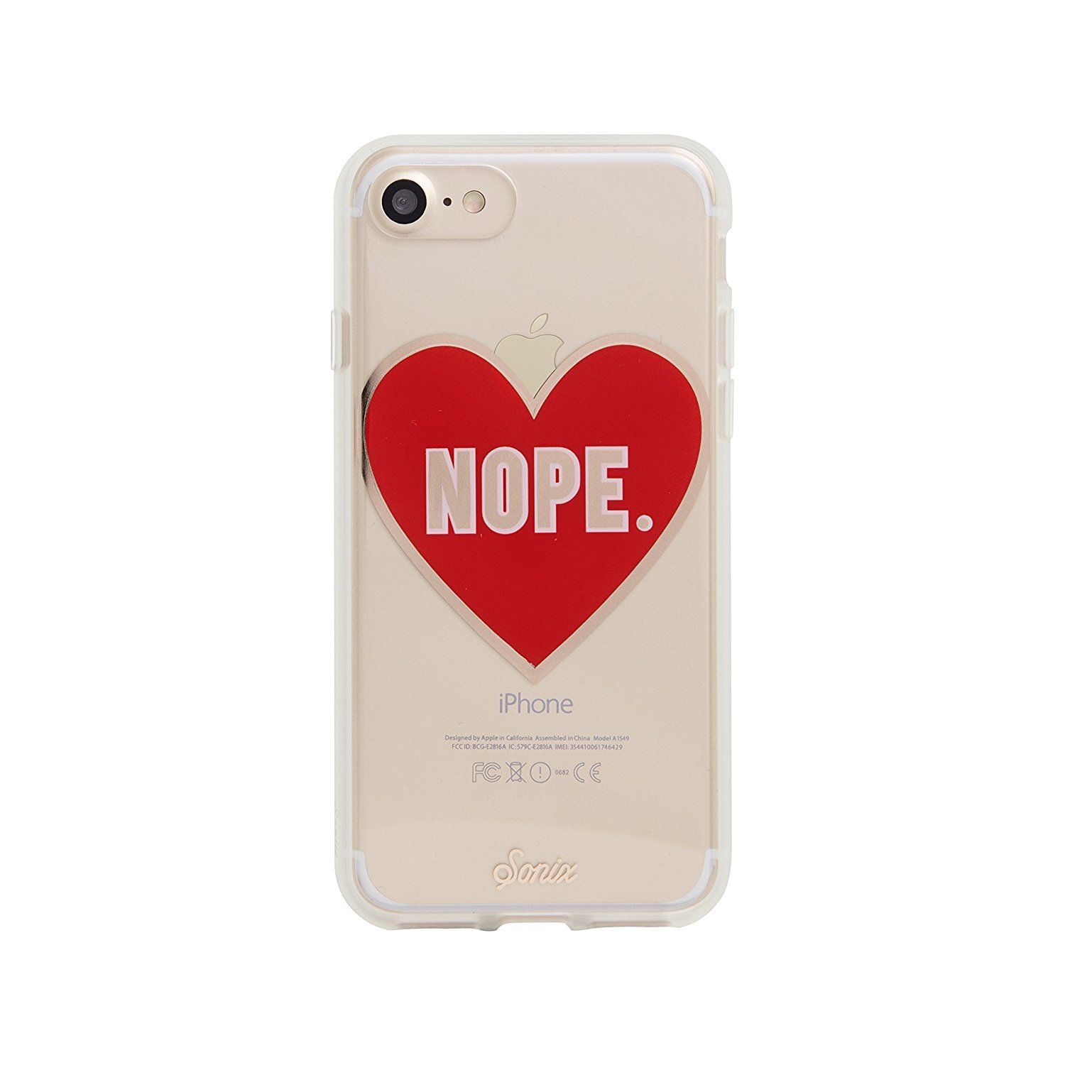 iPhone 8 iPhone 7 Sonix NOPE Cell Phone Case red Military