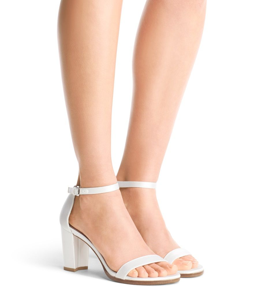 The nearlynude sandal | Wedding shoes heels, White block